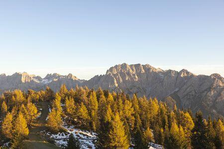 osttirol: Alps landscape in sunset Stock Photo