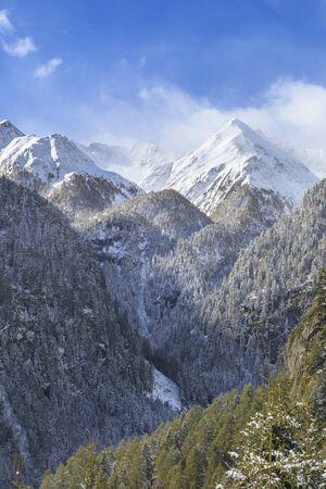 osttirol: Mountain peaks in alpine landscape Stock Photo