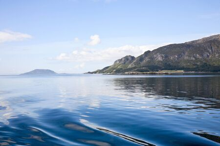 Fjord archipelago at the coast