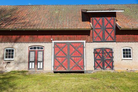 farmstead: Farmstead with a red barn