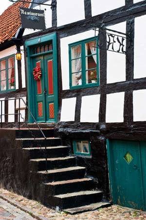 timbered: Picturesque resturant in a half timbered house