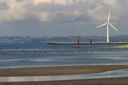 windpower: Wind power plants at the beach