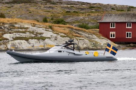 speedboat: Speedboat in the bay
