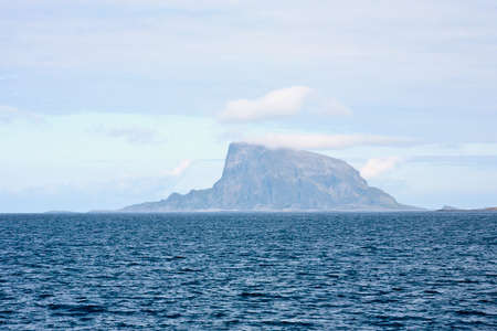 waterscapes: Mountain peak on the island Stock Photo