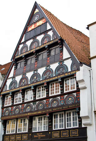 timbered: Half Timbered house in Germany Stock Photo