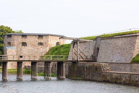 drawbridge: Drawbridge at the moat to the fortress