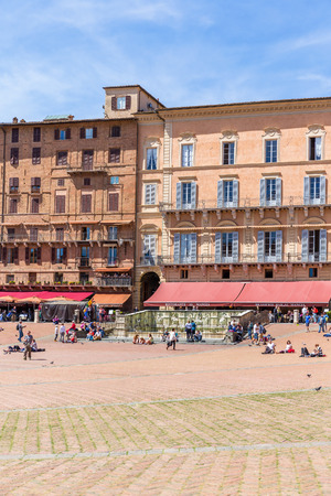 Piazza del Campo in Siena, Italy Editorial
