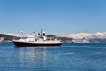 waterscapes: Cruise ship in Tromso harbor