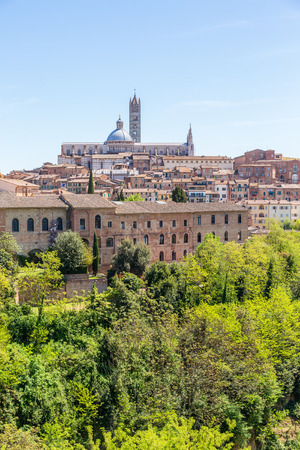 View of the city of Siena in Italy