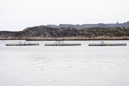 commercial fisheries: Fish farming at the coast Stock Photo