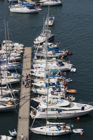 outboard: Pleasure boats at the pier