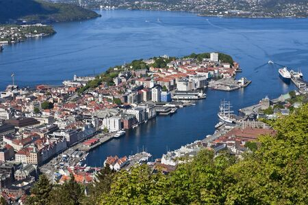 waterscapes: View of Bergen from Mount Floyen, Norway