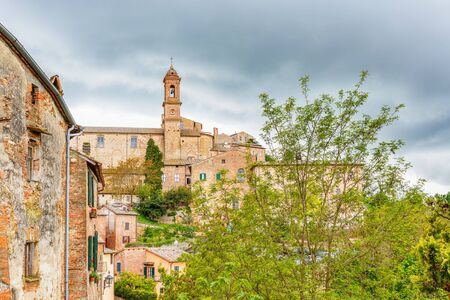 montepulciano: Old Italian rural village on a hill