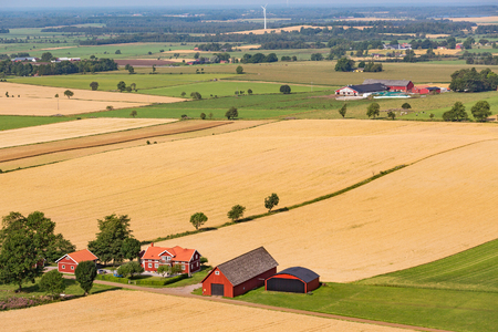View of a country farm in the cornfields