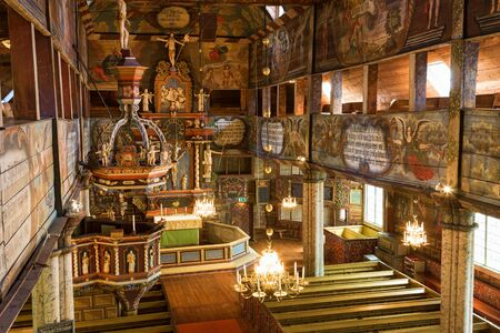 Inside view of an old Wooden Church