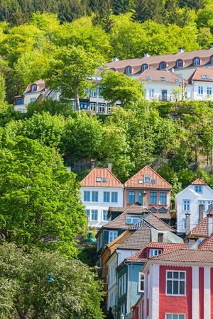 urban idyll: Residential buildings on a hillside