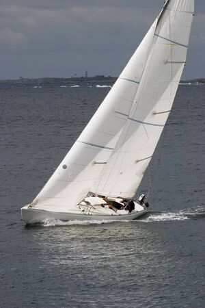 ripple: Windy sail on the sailboat