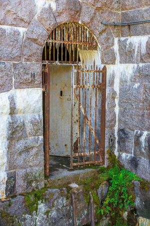 Old iron gate in a fortress