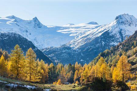 가 색상에서 알프스 계곡의 전망