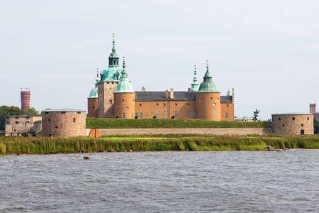 Kalmar castle by the sea in summer
