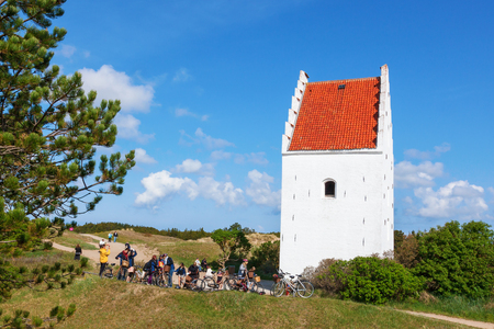 Bicycle Trip to Sand-Covered Church in Skagen