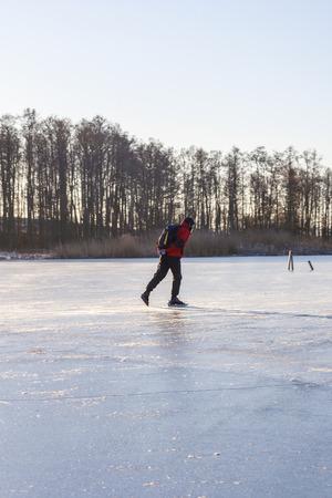 Tour skating on a lake Reklamní fotografie