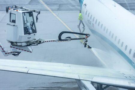 Aircraft that is de-iced before flight Reklamní fotografie