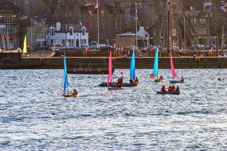 Sailboats in the harbor of Lerwick, Shetland
