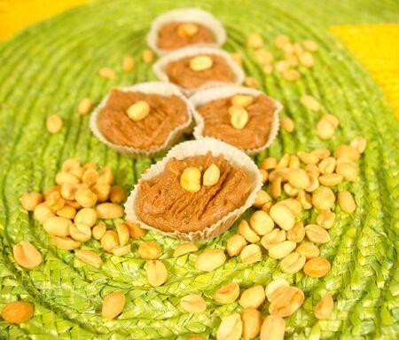 low cal:     Peanut cream dessert                            Stock Photo
