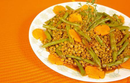 low cal: Lentil and green bean dish