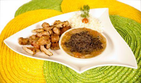 low cal: Brasilean typical dish called feijoada