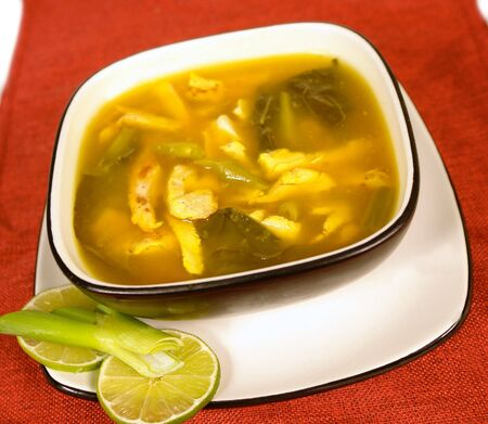 low cal: Thai soup with chicken meat
