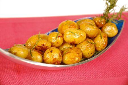 low cal: Honey glazed mini potatoes