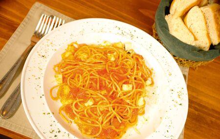 low cal:                                Spaghetti a la checca