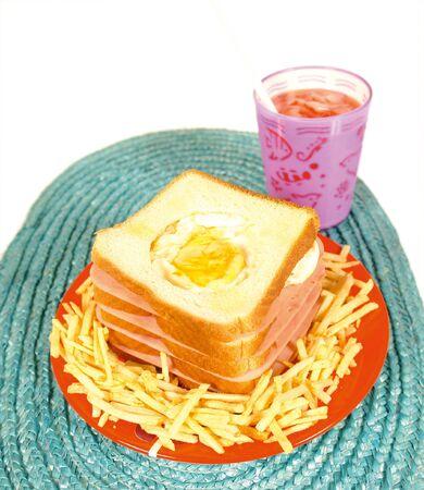 low cal: Kids sandwich Stock Photo