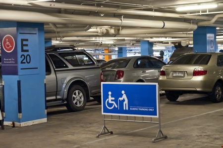 permissible: Elderly and handycap car parking olny sign