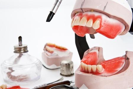 Dental lab articulator and equipments for denture Banco de Imagens - 11164647