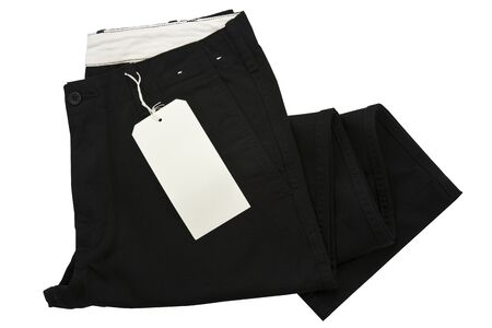 Black trousers with tagging photo