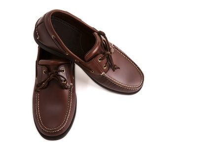 A new casual brown leather man shoe photo