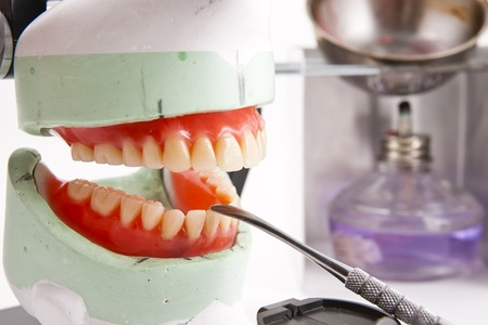 Dental lab articulator and equipments for denture  photo