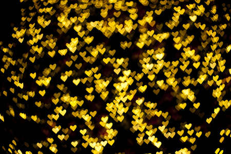 Blurred of heart shape christmas light, Can be used as background  photo