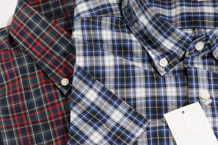 Red and Blue color shirt for men in checked pattern Stock Photo - 15201130