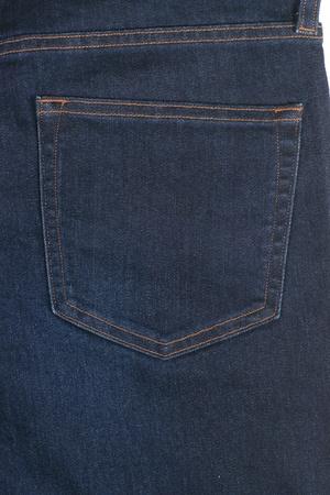 Close-up blue jean back showing pocket design photo
