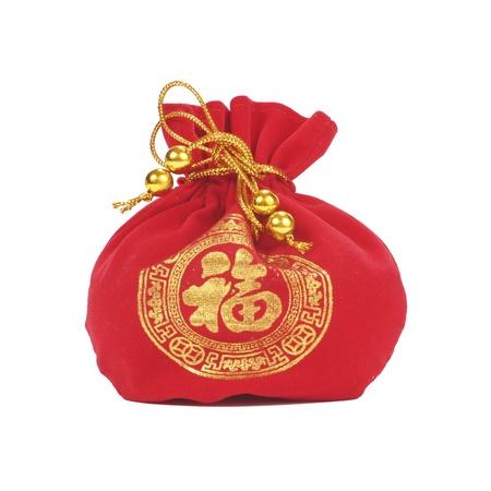 Ornamento chino del Año Nuevo en el fondo blanco Foto de archivo