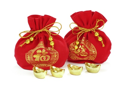 Chinese new year ornament on white background Banco de Imagens - 17624955
