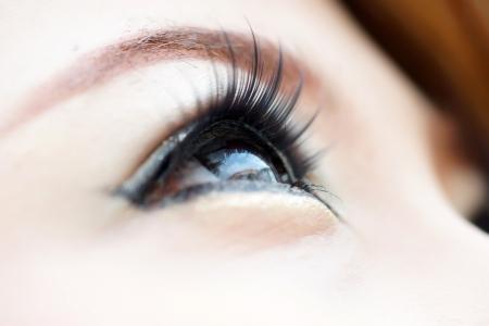 Beautiful female eye close up