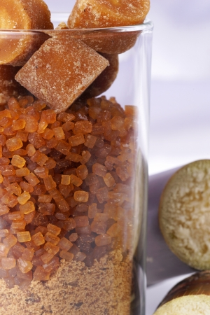 Various kinds of layer sugar in glass. Stock Photo - 18518555