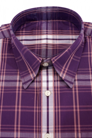 Casual mens shirt with a checked pattern photo