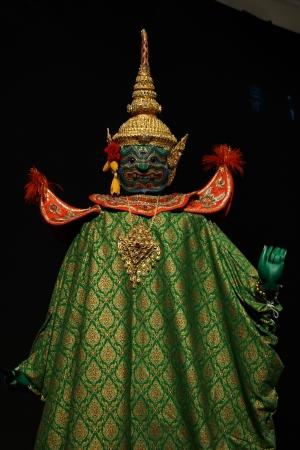puppetry: Marionetas tailand�s del drama Ramayana Foto de archivo