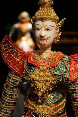 puppetry: Marioneta tailandesa del Ramayana teatro